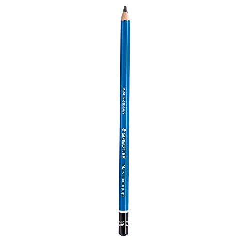 Staedtler Mars Lumograph 8B, 1 x potlood, kleurpotlood (8B, blauw)