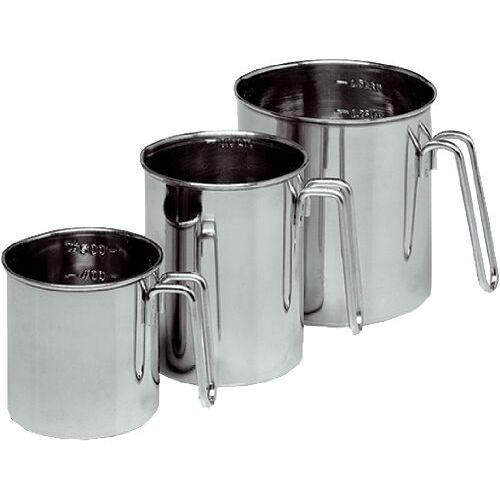 Karl Kruger Liter Maatregel, 05 l, roestvrij staal, zilver, 5 liter