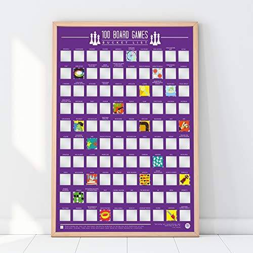 Gift Republic 100 Bordspellen Emmer Lijst Poster
