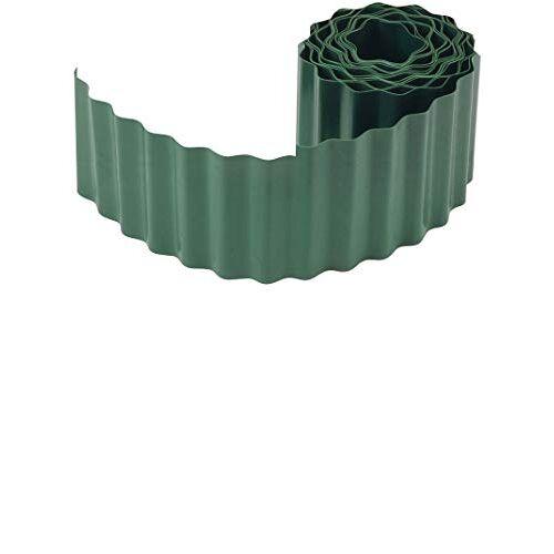 Connex Flexibele gazon- en bloembedrand groen 9 m lengte & 20 cm hoogte van slagvast kunststof eenvoudig te monteren Betrouwbare wortelblokkering/gazonrand/bloembegrenzing / FLOR14220