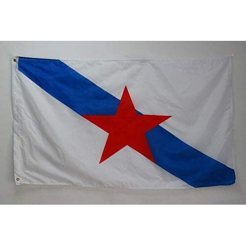 AZ FLAG Galicia Estreleira vlag 150x90cm Onafhankelijkheidsvlag van Galicia 90 x 150 cm Vlaggen AZ VLAG