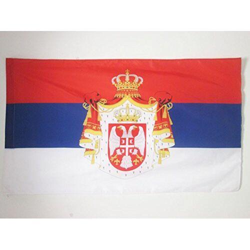 AZ FLAG Koninkrijk Servië 1882-1918 Vlag 150x90 cm voor een paal koninklijke Servische vlaggen 90 x 150 cm Banier 3x5 ft met gat