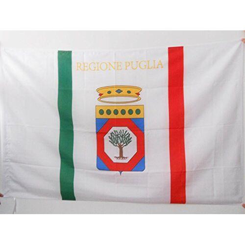 AZ FLAG Apulië vlag 90x60 cm voor een paal Italië Italiaanse regio Puglia vlaggen 60 x 90 cm Banner 2x3 ft met gat