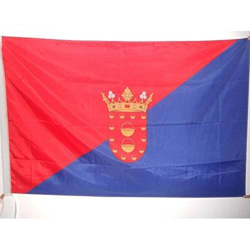 AZ FLAG Lanzarote Vlag 90x60 cm voor een paal Canarische Eilanden vlaggen 60 x 90 cm Banner 2x3 ft met gat