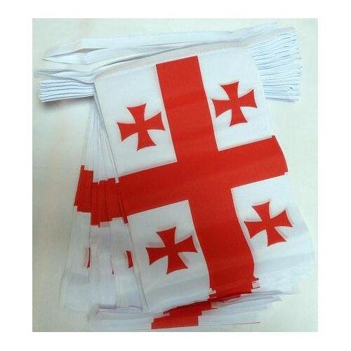 AZ FLAG Slinger 6 meter 20 Vlaggen Georgië 21x15 cm Georgische Vlag 15 x 21 cm AZ VLAG