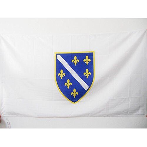 AZ FLAG Bosnië en Herzegovina 1992-1998 Vlag 90x60 cm voor een paal oude Bosnische vlaggen 60 x 90 cm Banner 2x3 ft met gat