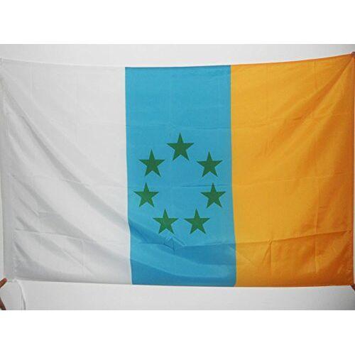 AZ FLAG Canarische Eilanden Onafhankelijke Vlag 150x90 cm voor een paal Canarias nationalistische vlaggen 90 x 150 cm Banner 3x5 ft met gat