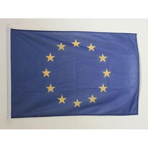 AZ FLAG Europa Vlag 90x60 cm voor buiten Vlag van de Europese Unie 90 x 60 cm Banner 2x3 ft Gebreid Polyester met ringen