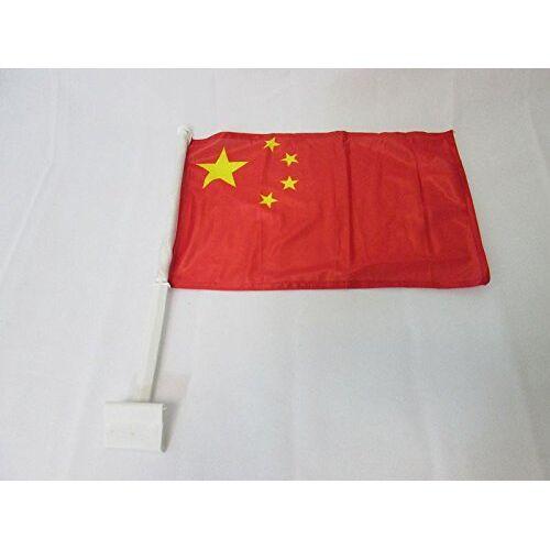 AZ FLAG China Autovlag 45x30 cm Chinese Autovlaggen 30 x 45 cm Banier 18x12 INCHES HIGH QUALITY PLASTIC STICK