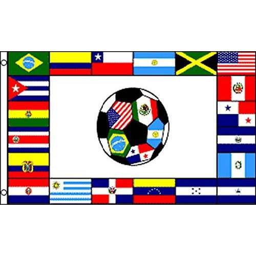 AZ FLAG Zuid-Amerikaanse voetbalvlag 150x90 cm Zuid-Amerikaanse voetbalvlag 90 x 150 cm Banier 3x5 ft Hoge kwaliteit