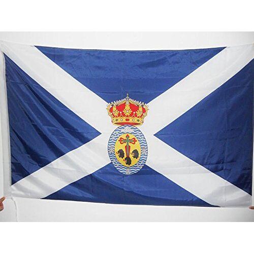 AZ FLAG Santa Cruz de Tenerife Vlag 150x90 cm voor een paal Canarische Eilanden vlaggen 90 x 150 cm Banner 3x5 ft met gat