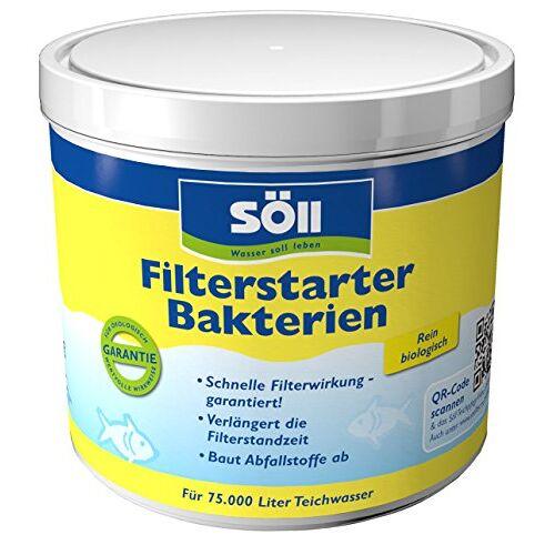 Söll 14432 Filterstarterbacteriën zeer zuivere micro-organismen voor vijvers 500 g natuurlijke filterbacteriën activeren de biologie van de filters in de tuinvijver visvijver koivijver zwemvijver