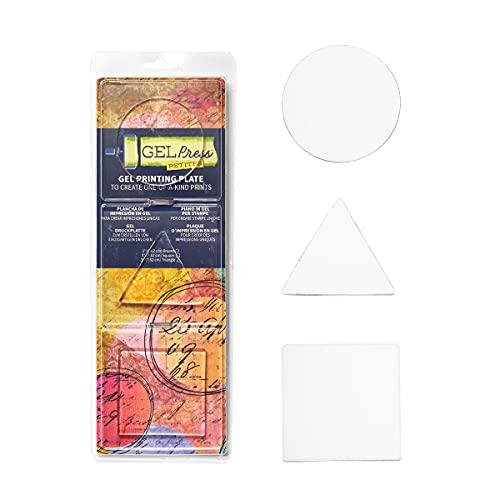 Gel Press GEL10812-CIR drukplaat, kleurloos, 8 cm