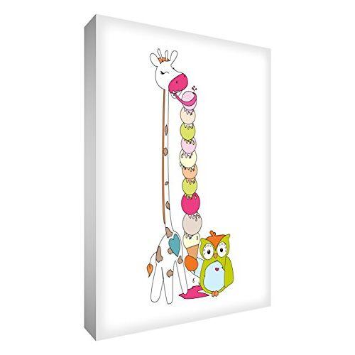 """ART GIRICE-A6BLK-12ES Decoratief blok van acryl, motief """"Lord Giraffe en heer Buho met een ijs"""", 10,5 x 15 x 2 cm, meerkleurig"""