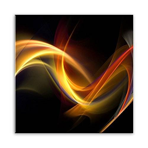 STYLER GL021 glazen afbeelding, glas, zwart, 0,4 x 30 x 30 cm