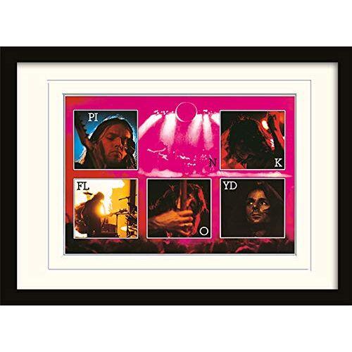 Roze Floyd Live A3 Ingelijst en Gemonteerd Print