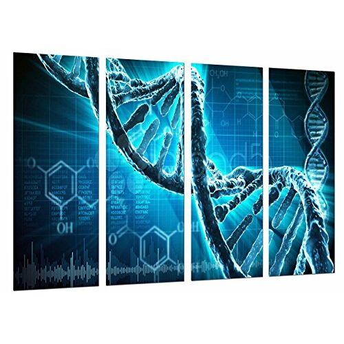 Cuadros Cámara Fotolijsten Biologie, Wetenschappen, Chromosom, ketting DNA, blauw, totale grootte: 131 x 62 cm XXL