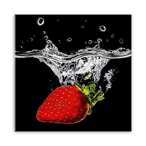 STYLER GL185 glazen afbeelding, glas, rood, 0,4 x 20 x 20 cm