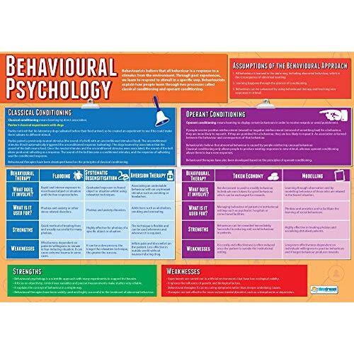 Daydream Education Gedragspsychologie   Psychologie Posters   Gelamineerd Glans Papier meten 850mm x 594mm (A1)   Psychologie Grafieken voor de Klas   Education Charts by