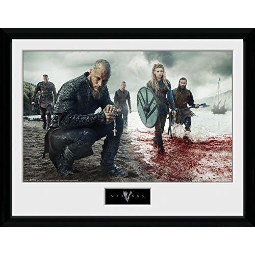 GB eye PFC2522 Vikings, Bloedlandschap, ingelijste print 30x40cm, hout, divers, 52 x 44 x 3 cm