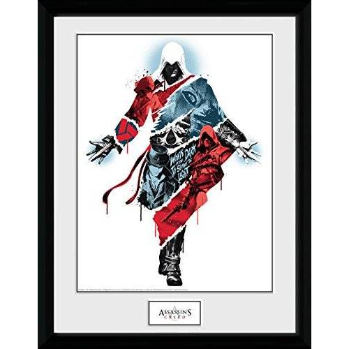 GB Eye Limited GB oog LTD, Assassins Creed, Compilatie 2, Framed Print 30x40cm, Hout, Diverse, 52 x 44 x 3 cm