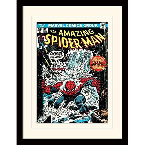 Pyramid Spiderman (Sewer) 30 x 40 cm gemonteerd en ingelijst, gemonteerd 250GSM Paper WRAP MDF, meerkleurig, 44 x 33 x 4 cm