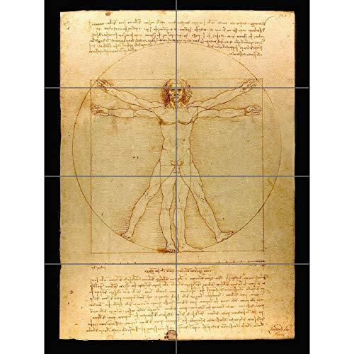 Artery8 Da Vinci Vitruvian Man menselijke verhoudingen 1490 diagram XL Giant Panel Poster (8 Secties)