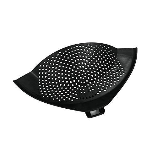 """Metaltex 111502038 Afgiethulp""""Clip On"""" met bevestigingsclip, kunststof, zwart, 28 x 14 x 1,5 cm"""