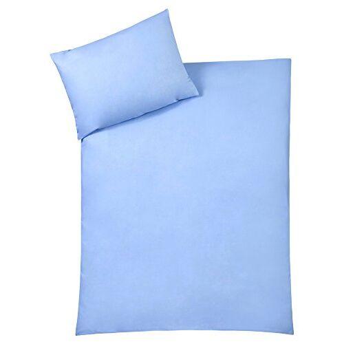 Julius Zöllner 85001 40317 beddengoed Uni, grootte: 100x135 cm / 40x60 cm, uni blauw