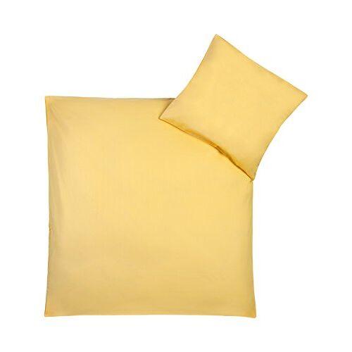 Julius Zöllner 85001 40800 Beddengoed Uni, grootte: 100x135 cm / 40x60 cm, uni geel