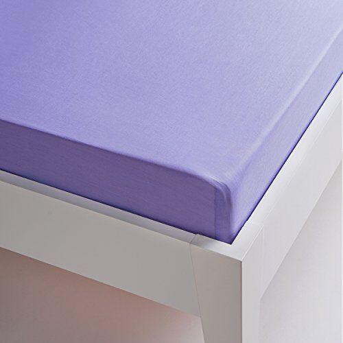 Sancarlos Hoeslaken, 100% katoen, gemakkelijk te strijken, voor bedden met 105 cm breed, lila