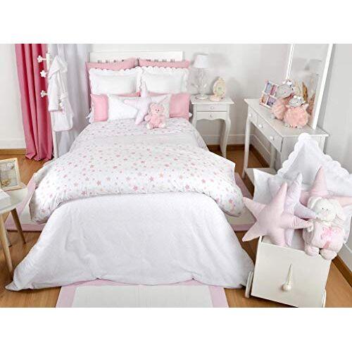 Mi Casa Mi Dekbedovertrek Sterren Kinderbedje 100 x 120, Roze, 100 x 120 cm