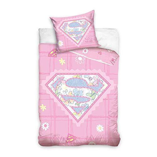 Super Baby beddengoed, katoen, roze, 100x135 cm + 40x60 cm