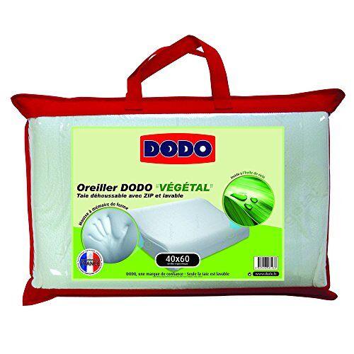 Dodo Vegetal Ergonomisch hoofdkussen, 40 x 60 cm, wit