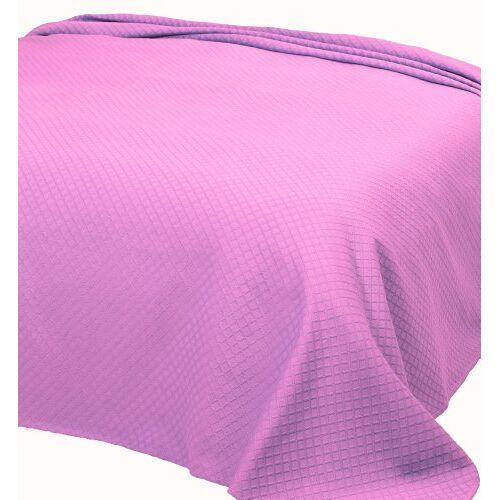 Pure 253 Individueel dekbed van piquée, 180x260 cm, col. roze