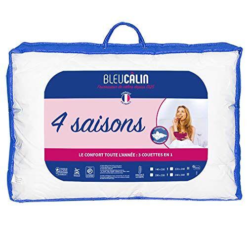 Bleu Câlin Dekbed voor 4 seizoenen, 2 personen, 3 dekbedden in 1, wit, 220 x 240 cm, KTD