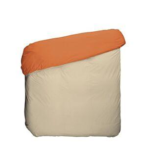 Play Basic Collection dekbedovertrek, katoen/polyester, oranje, kaki en linnen, 150 x 220 x 3 cm
