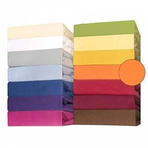 CelinaTex Lucina for Kids Baby Hoeslakens 3-pack 60x120 70x140 cm oranje katoen hoeslaken