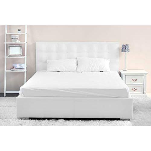 DHestia Hotel Set witte lakens 100% katoen, bovenblad, hoeslaken, kussenslopen, (180 x 190/200 cm bed)