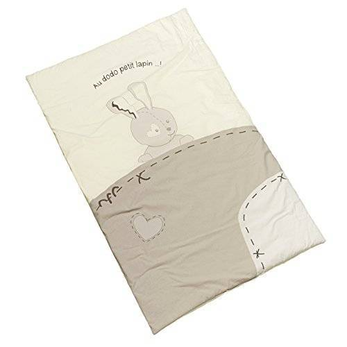 Thermobaby Dekbed, kleine haas, voor bedden 60 x 120 cm, wit/grijs