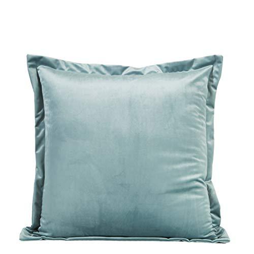 Eurofirany Kussensloop, kussensloop, sofakussen, bedkussen, kamerdecoratie, elegant, exclusief fluweel, glad, zacht, zeegroen, 45 x 45 cm, 2 stuks