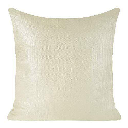 Eurofirany kussenslopen kussenslopen glinsterende oplichtende sofakussenslopen sofakussenslopen decoratiekussen dubbelverpakking set kussenslopen decokussen, beige + zilver, 45x45cm