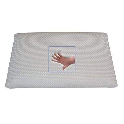 Supply24 since 2004 Orthopedisch gelschuim hoofdkussen buikslaperskussen neksteunkussen 80 x 40 x 9 cm slaapkussen voor buikslapers zacht / zacht kussen