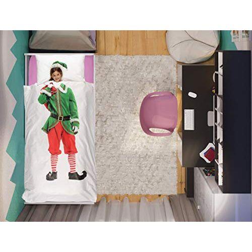 Italian Bed Linen Beddengoedset voor kinderen, digitaal, katoen, elf, 1 plek.