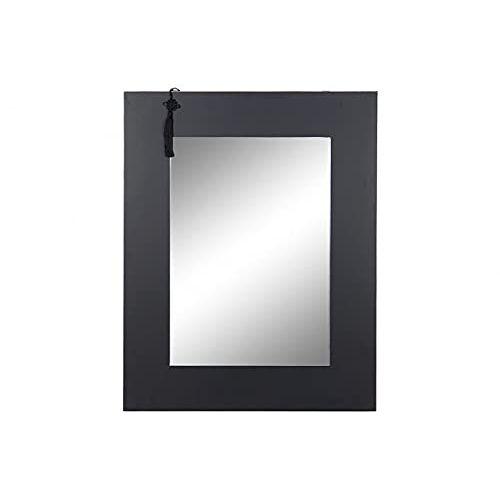 DT Spiegel van MDF en spiegelglas, zwart, 70 x 2 x 90 cm (referentie: MB-173731)