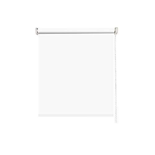 madecostore rolgordijn met oprolmechanisme, ondoorzichtig, effen, wit, 41 x 190 cm met boren