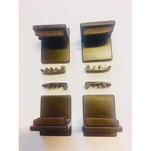K-home Plakdrager voor plissé, bruin, 4 stuks