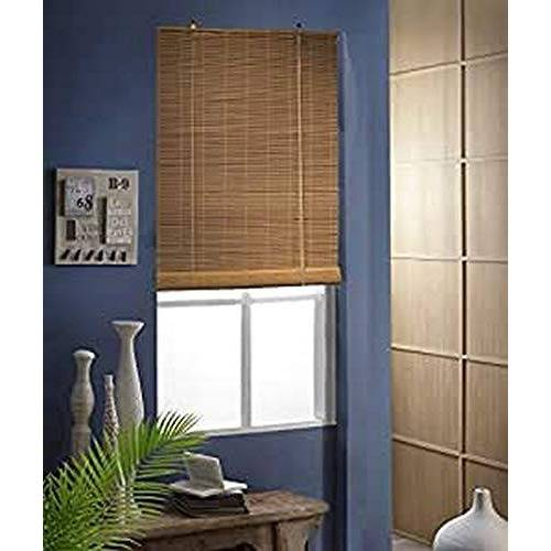 madecostore Rollo met oprolmechanisme, bamboe, karamel, L 103 x H 180 cm, bevestiging met boren