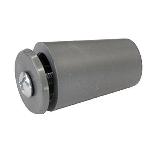 Sysfix 2320122 – aanslagstop voor rolluiken TP 35 in doos 12 stuks met schroef en sluitring, zilver