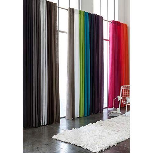 TODAY 257201 lusgordijn polyester 140 x 260 cm, polyester, Jus de Myrtille/fuchsia, 140x260 cm